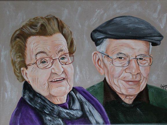 anniversaire de mariage, peinture acrylique sur toile