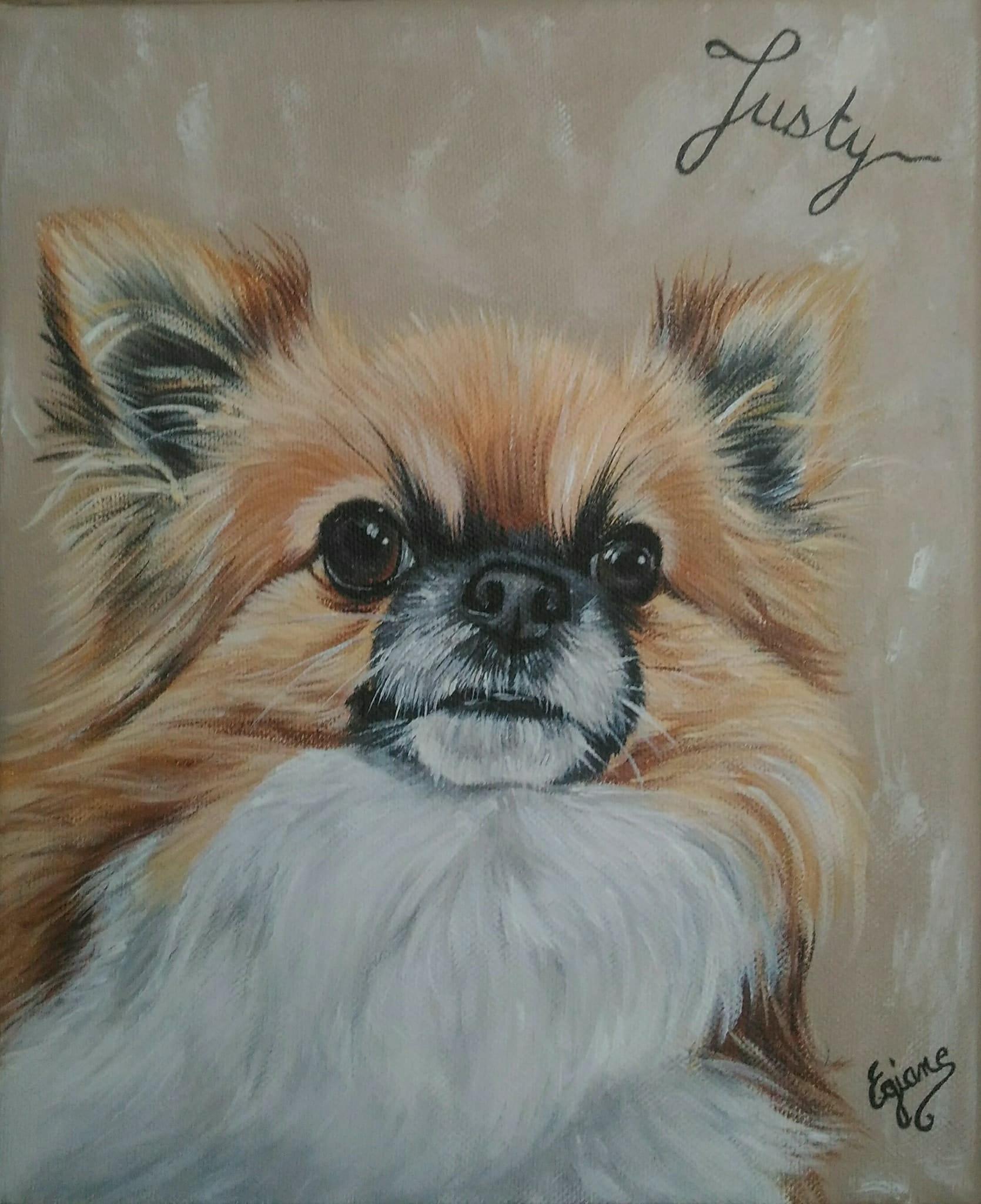 Chihuahua, peinture acrylique sur toile